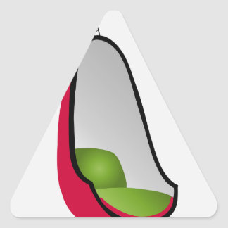 卵の椅子のインテリア・デザインの家具 三角形シール
