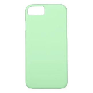 卵の殼の青緑のパステルカラーの背景 iPhone 8/7ケース