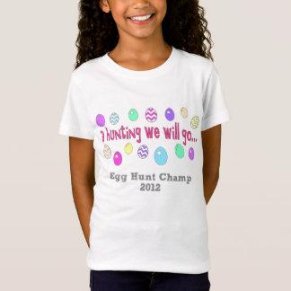 卵の狩りの2012年の女の子 Tシャツ