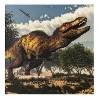 卵を保護しているティラノサウルス・レックスのレックスの恐竜 アクリルウォールアート