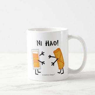 卵ロール及びアヒルソース- NI Hao! コーヒーマグカップ
