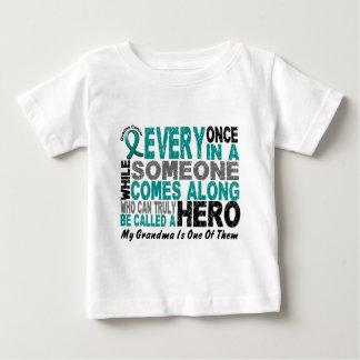 卵巣癌の英雄によっては祖母が現れります ベビーTシャツ