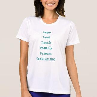 卵巣癌の認識度 Tシャツ
