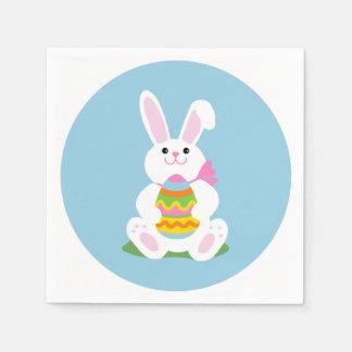 卵|の昼食会が付いているイースターのウサギ スタンダードカクテルナプキン