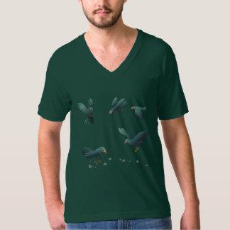 厄介な鳥のV首のTシャツ Tシャツ
