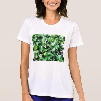 厚い緑の葉 Tシャツ