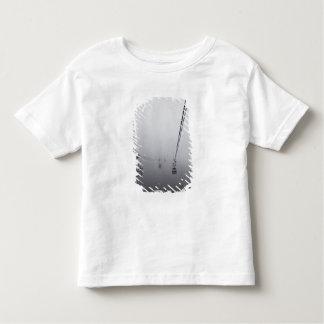 厚い霧のNgongのポーンのケーブル・カー トドラーTシャツ