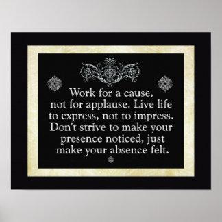 原因のための仕事 --- 芸術のプリント ポスター
