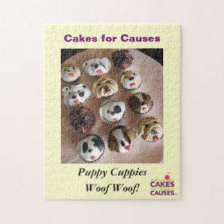 原因の子犬のパズルのためのケーキ ジグソーパズル