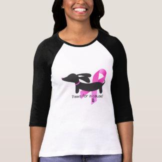 原因 の乳癌 のダックスフントのための足 Tシャツ
