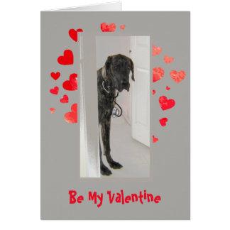 原因IのWoof愛グレートデーン犬のバレンタイン カード