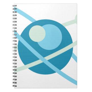 原子のベクトルロゴ ノートブック