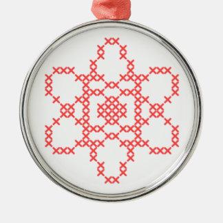 原子の十字のステッチのオーナメント メタルオーナメント