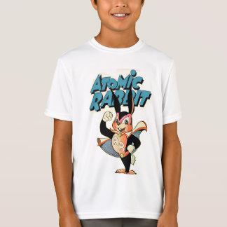 原子ウサギのおもしろいな漫画の芸術のスーパーヒーロー Tシャツ