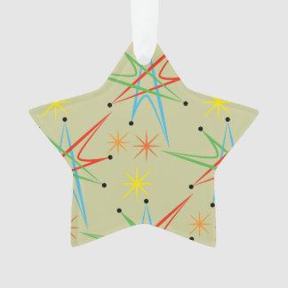 原子スターバストのレトロの多彩パターン オーナメント