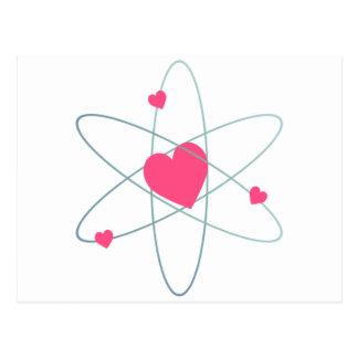 原子ハート ポストカード