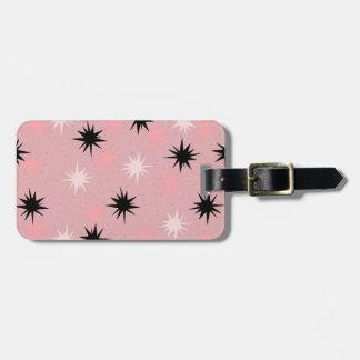 原子ピンクのスターバストの荷物のラベル ラゲッジタグ