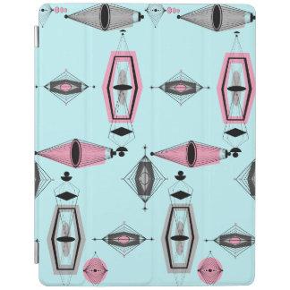 原子ピンク及び灰色パターンiPadカバー iPadスマートカバー