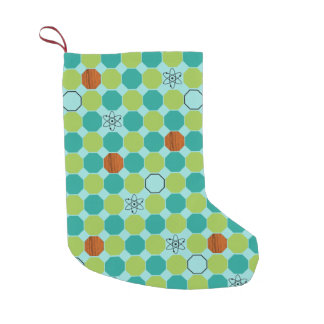 原子八角形のクリスマスのストッキング スモールクリスマスストッキング