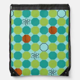 原子八角形のドローストリングのバックパック ナップサック