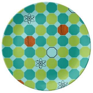 原子八角形の磁器皿 磁器プレート