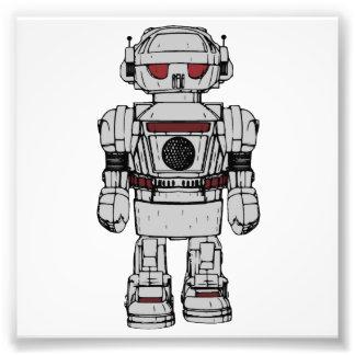 原子動力を与えられたおもちゃのロボットからの幸運を祈ります フォトプリント