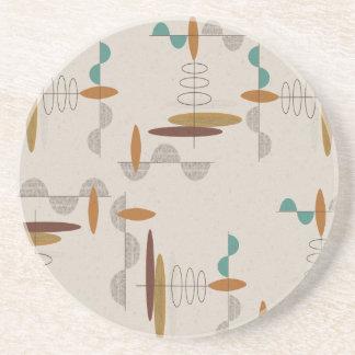 原子時代の世紀半ばのモダンの抽象芸術 コースター