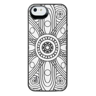 原子構造の曼荼羅 iPhone SE/5/5sバッテリーケース