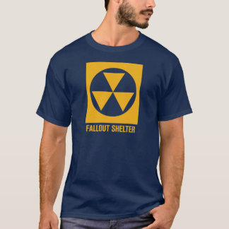 原子灰避難所の印のワイシャツ Tシャツ