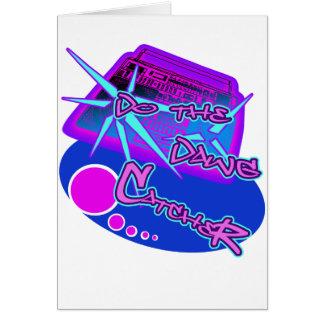原子犬のレトロの叩く音のヒップホップの激賞のエレクトロ カード
