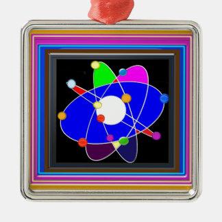 原子科学は勉強の研究の学校を探検します メタルオーナメント