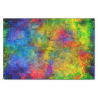 [原子絞り染め]サイケデリックな虹色 薄葉紙