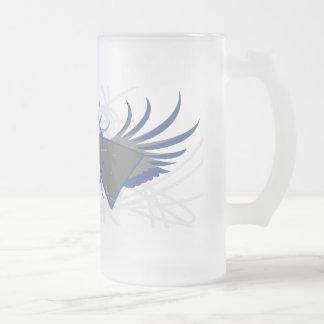原子Rev.曇らされたガラスのマグ フロストグラスビールジョッキ