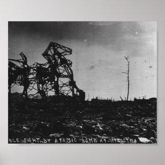 原爆の後のWWII広島 ポスター