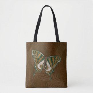 原生のアゲハチョウの全にプリントのバッグ トートバッグ