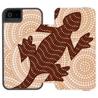 原生のトカゲの点の絵画 INCIPIO WATSON™ iPhone 5 財布 ケース