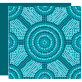 原生の点の絵画 13.3 スクエアインビテーションカード