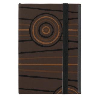 原生ラインおよび円の絵画 iPad MINI ケース