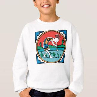 原産のアメリカインディアンのココペリ スウェットシャツ
