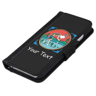 原産のアメリカインディアンのココペリ iPhone 6/6S ウォレットケース