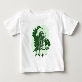 原産のアメリカインディアンの主な緑 ベビーTシャツ