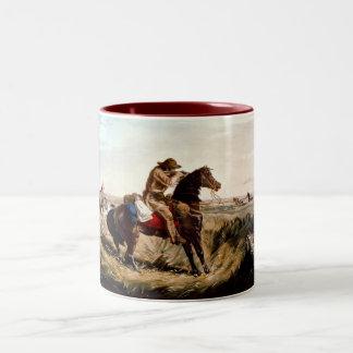 原産のアメリカインディアンの点検を保つこと ツートーンマグカップ