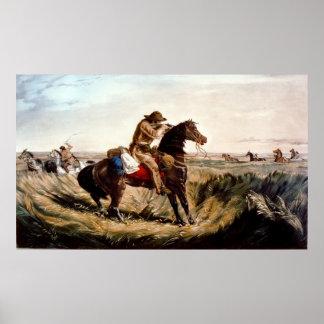 原産のアメリカインディアンの点検を保つこと ポスター