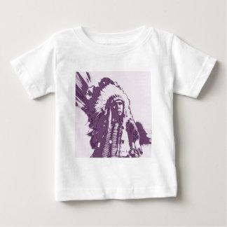 原産のアメリカインディアンの紫色 ベビーTシャツ