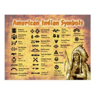 原産のアメリカインディアンの記号 ポストカード