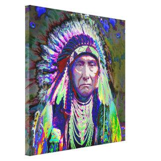 原産のアメリカインディアンの責任者 キャンバスプリント