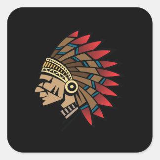 原産のアメリカインディアンの責任者 スクエアシール