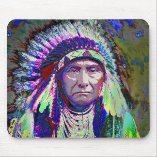 原産のアメリカインディアンの責任者 マウスパッド