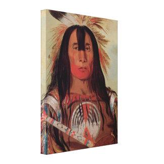 原産のインディアンの酋長の血の種族の1832年のキャンバスの芸術 キャンバスプリント