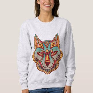 原産のオオカミ スウェットシャツ